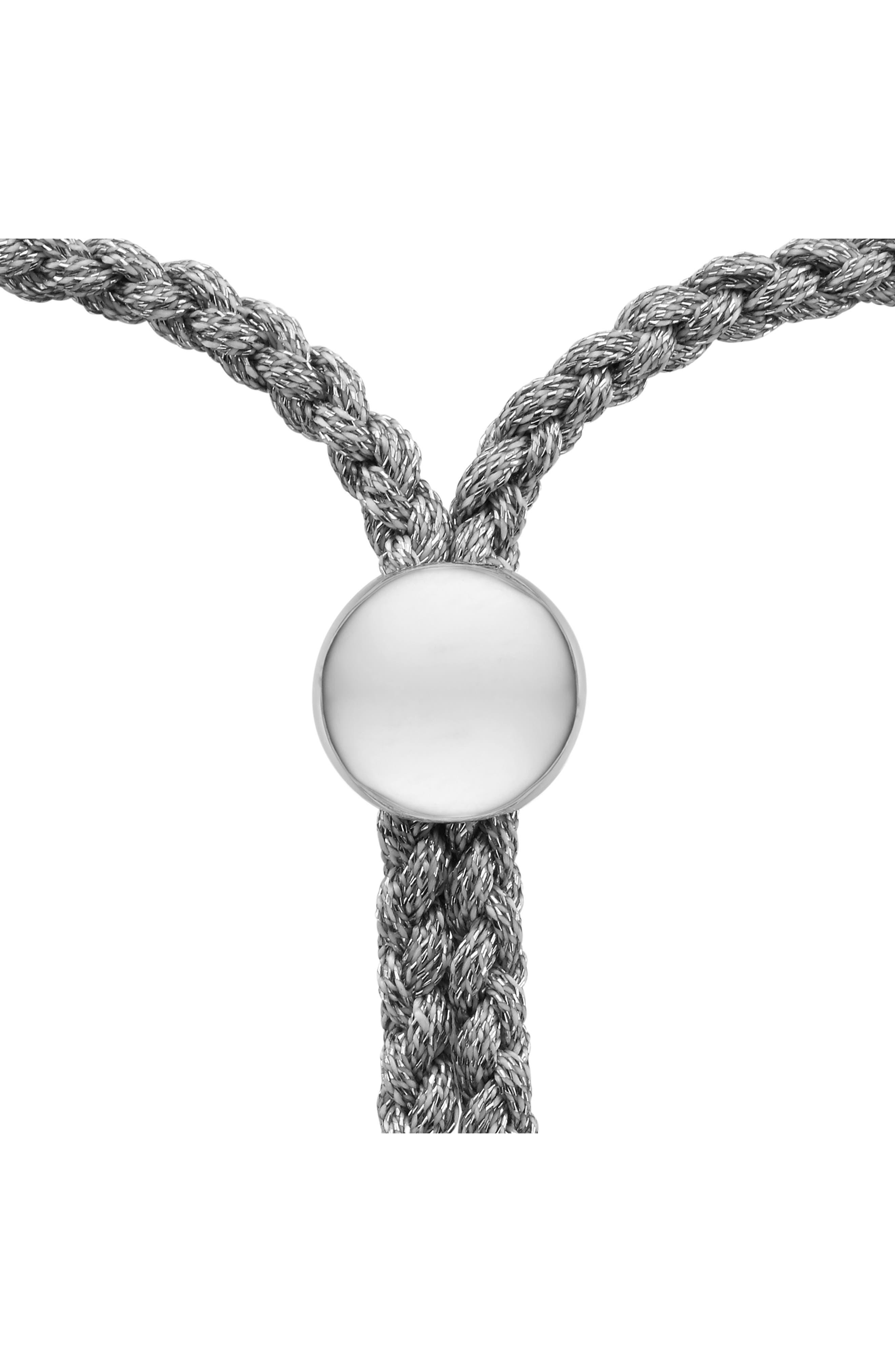 Engravable Nura Friendship Bracelet,                             Alternate thumbnail 2, color,                             Silver