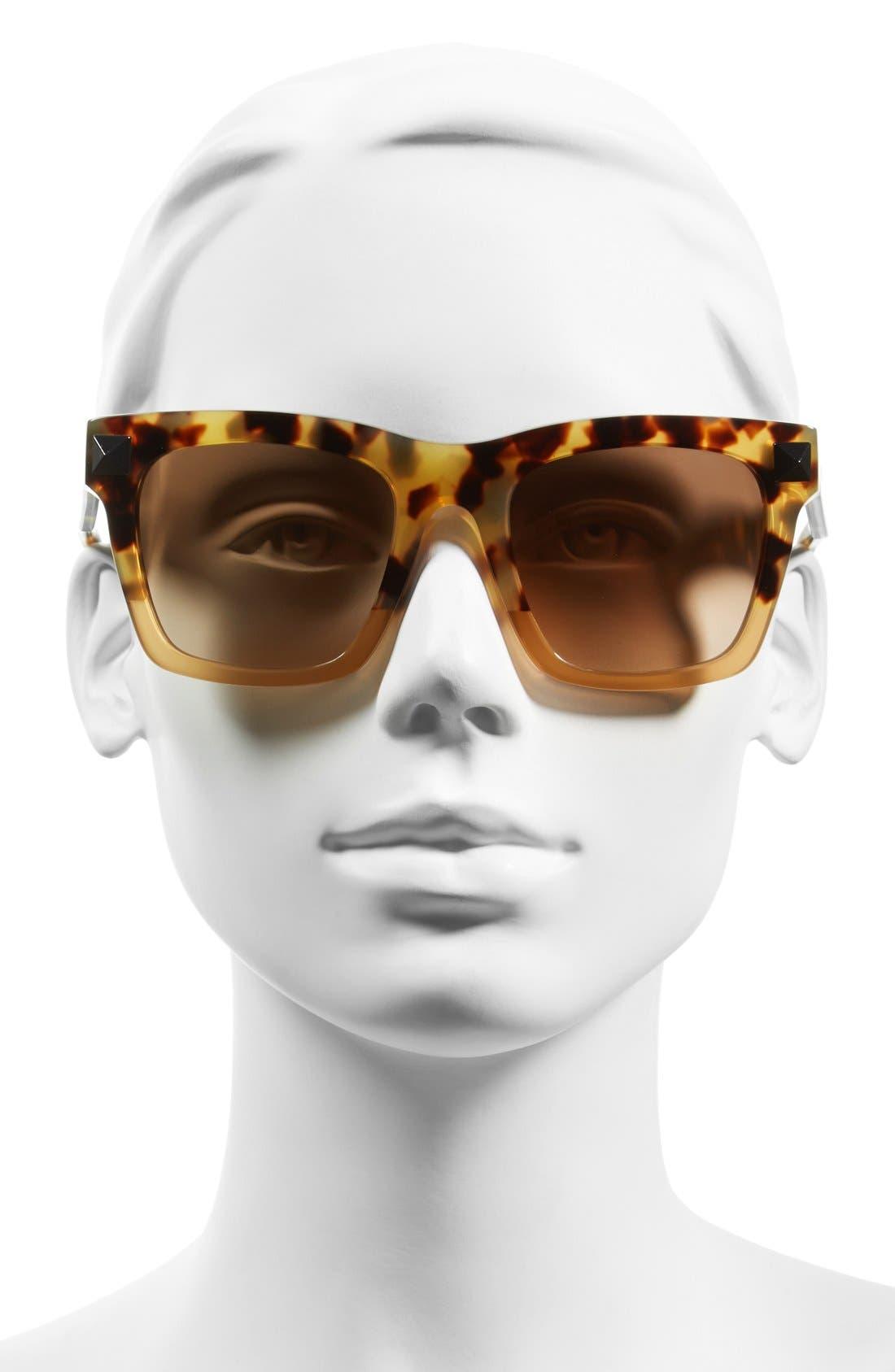 'Rockstud' 54mm Sunglasses,                             Alternate thumbnail 2, color,                             Tokyo Havana