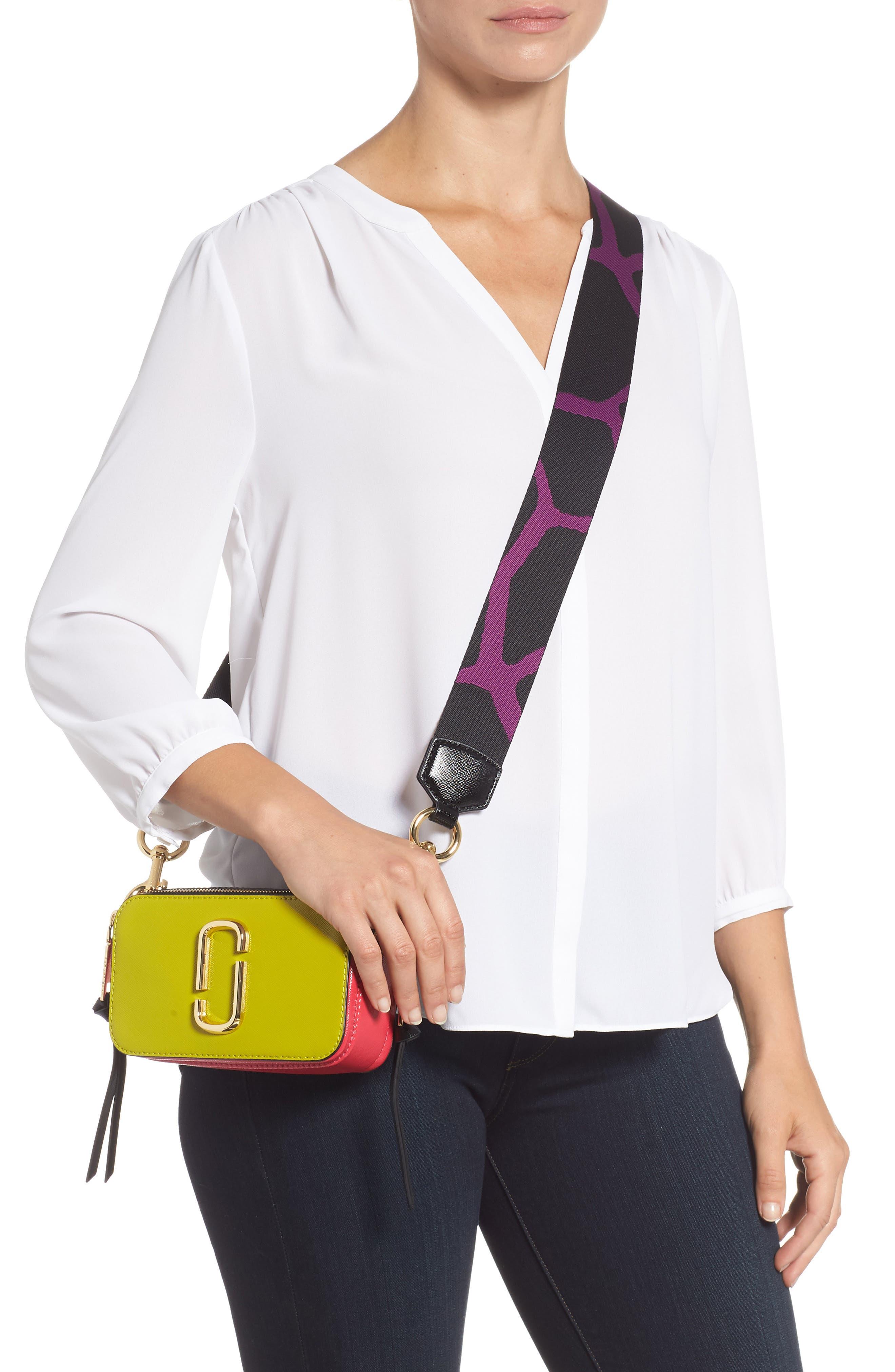 Snapshot Crossbody Bag,                             Alternate thumbnail 2, color,                             Chartreuse Multi