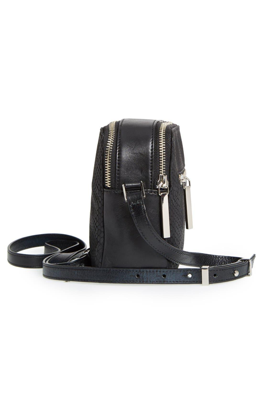 Alternate Image 5  - Halogen® Leather Double Zip Crossbody Bag