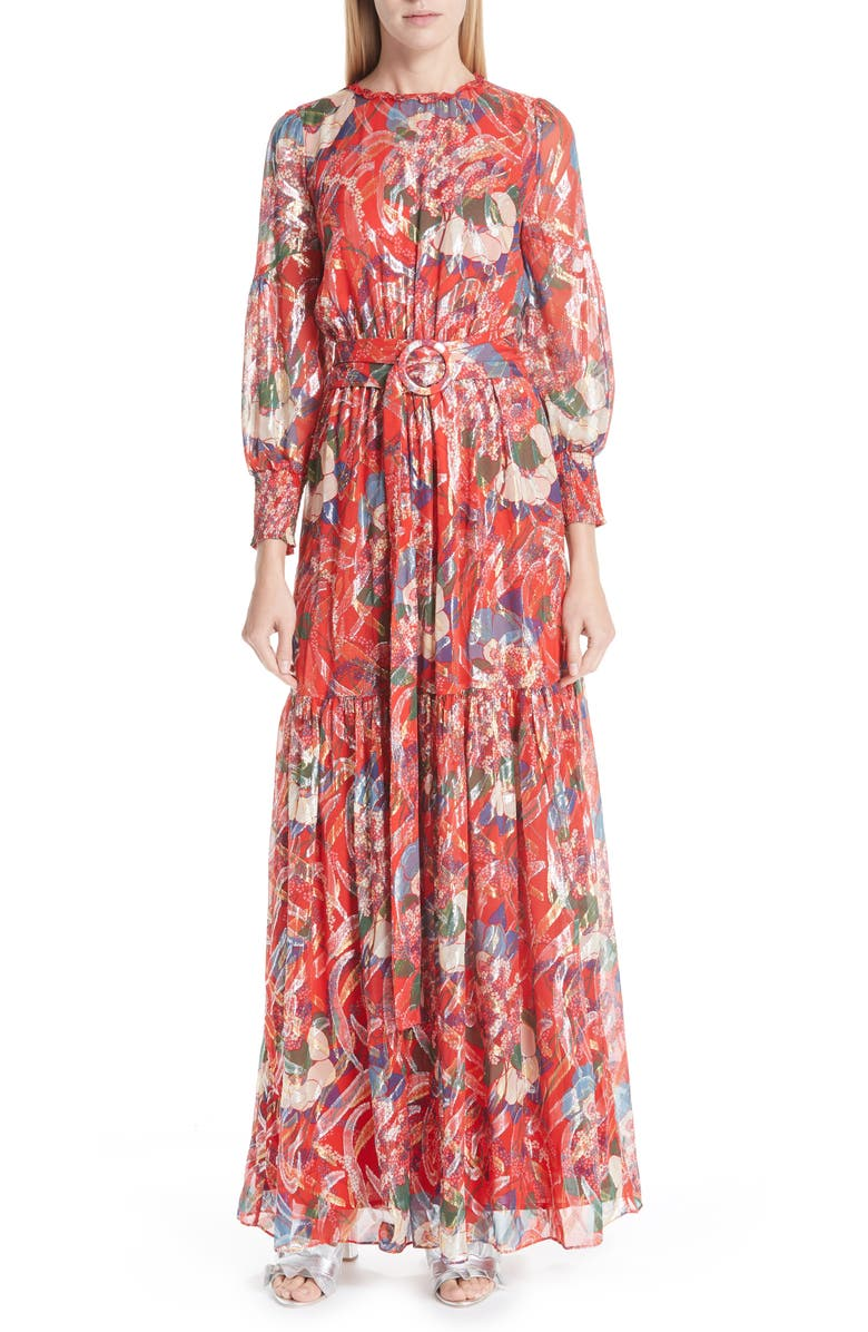 bash Jasper Belted Floral Maxi Dress