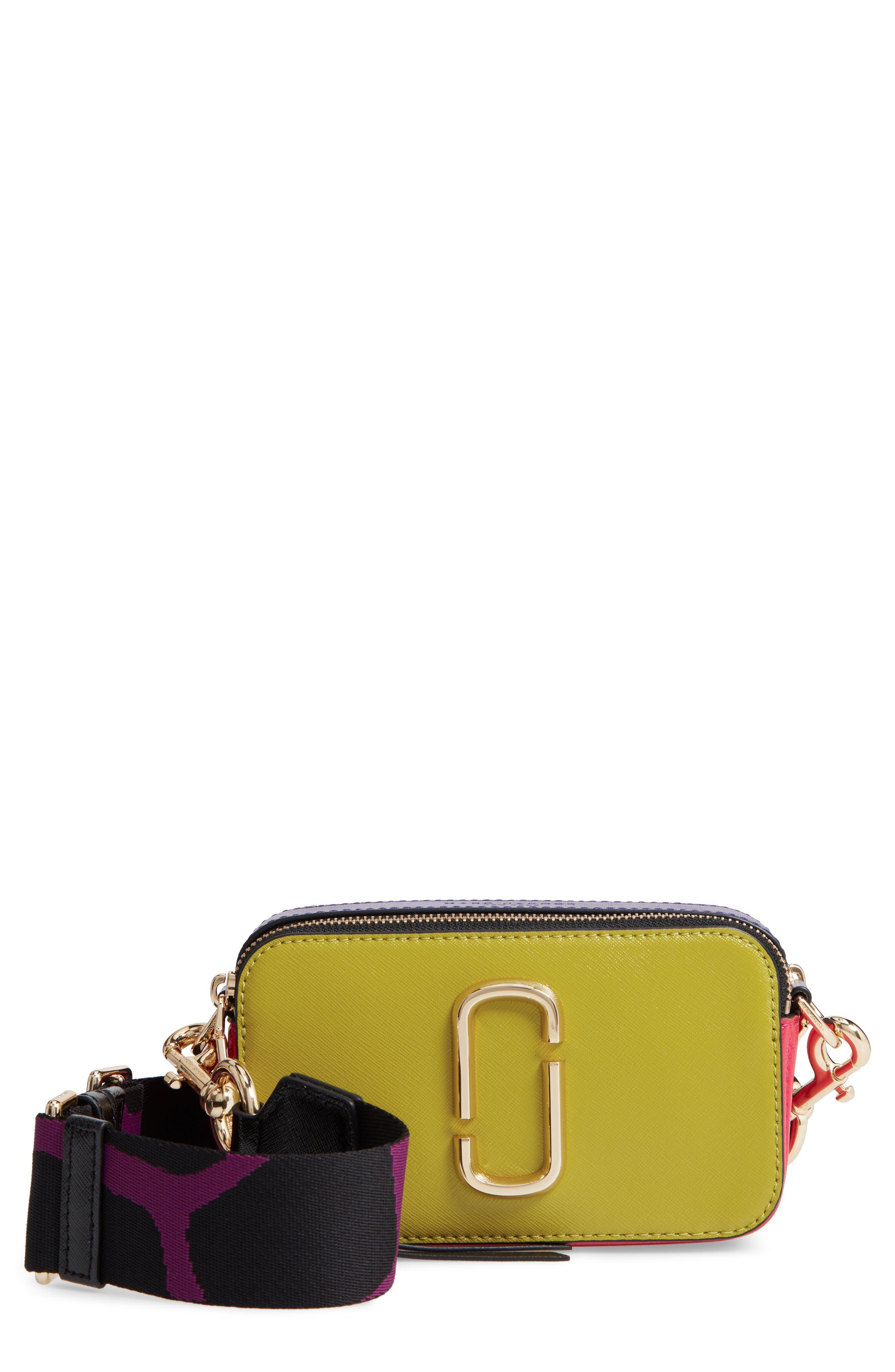 Snapshot Crossbody Bag,                             Main thumbnail 1, color,                             Chartreuse Multi