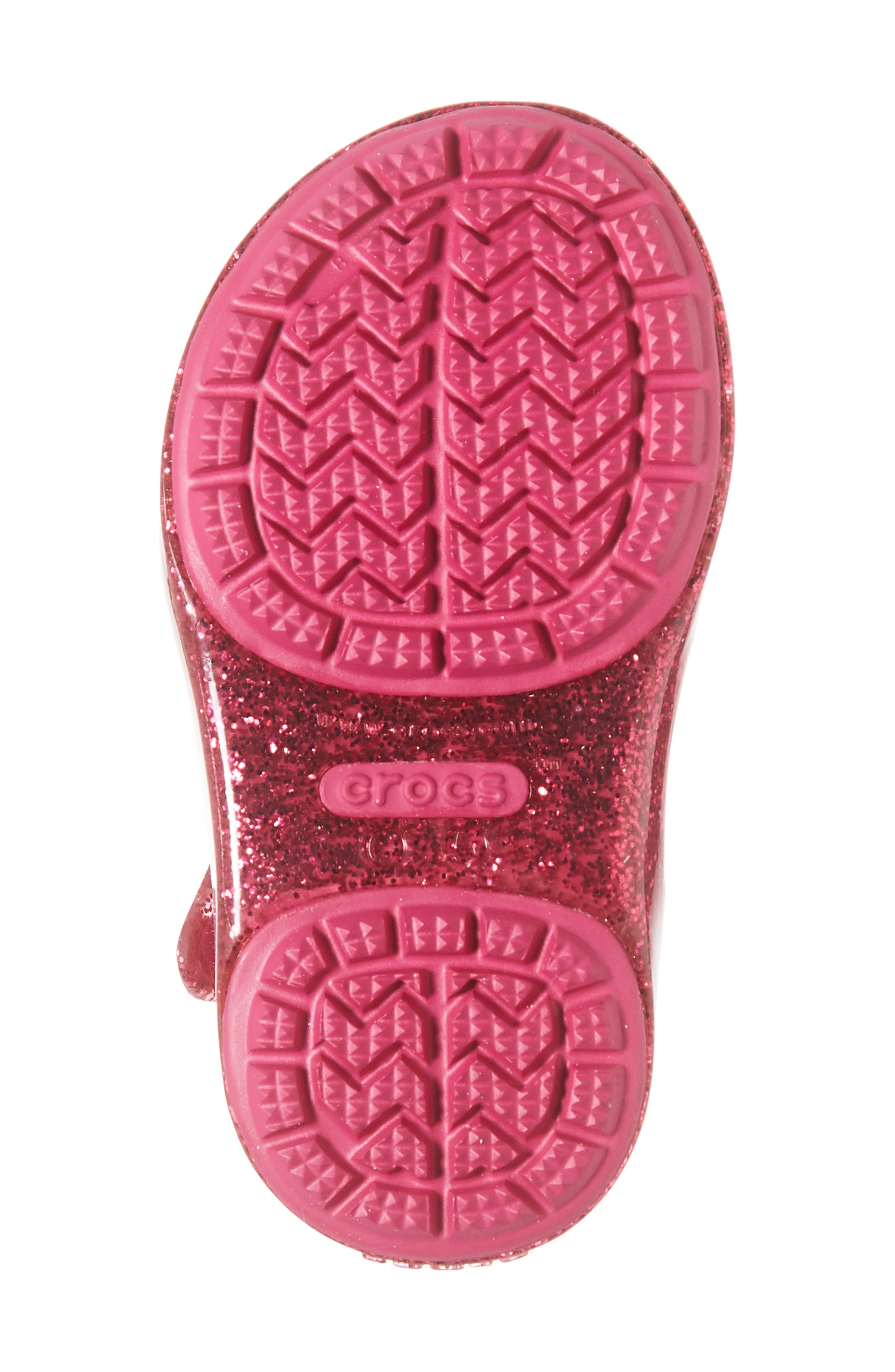 Isabella Bow Glitter Fisherman Sandal,                             Alternate thumbnail 4, color,                             Candy Pink