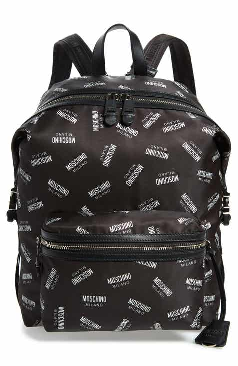0da522d7e51 Moschino Allover Logo Print Backpack