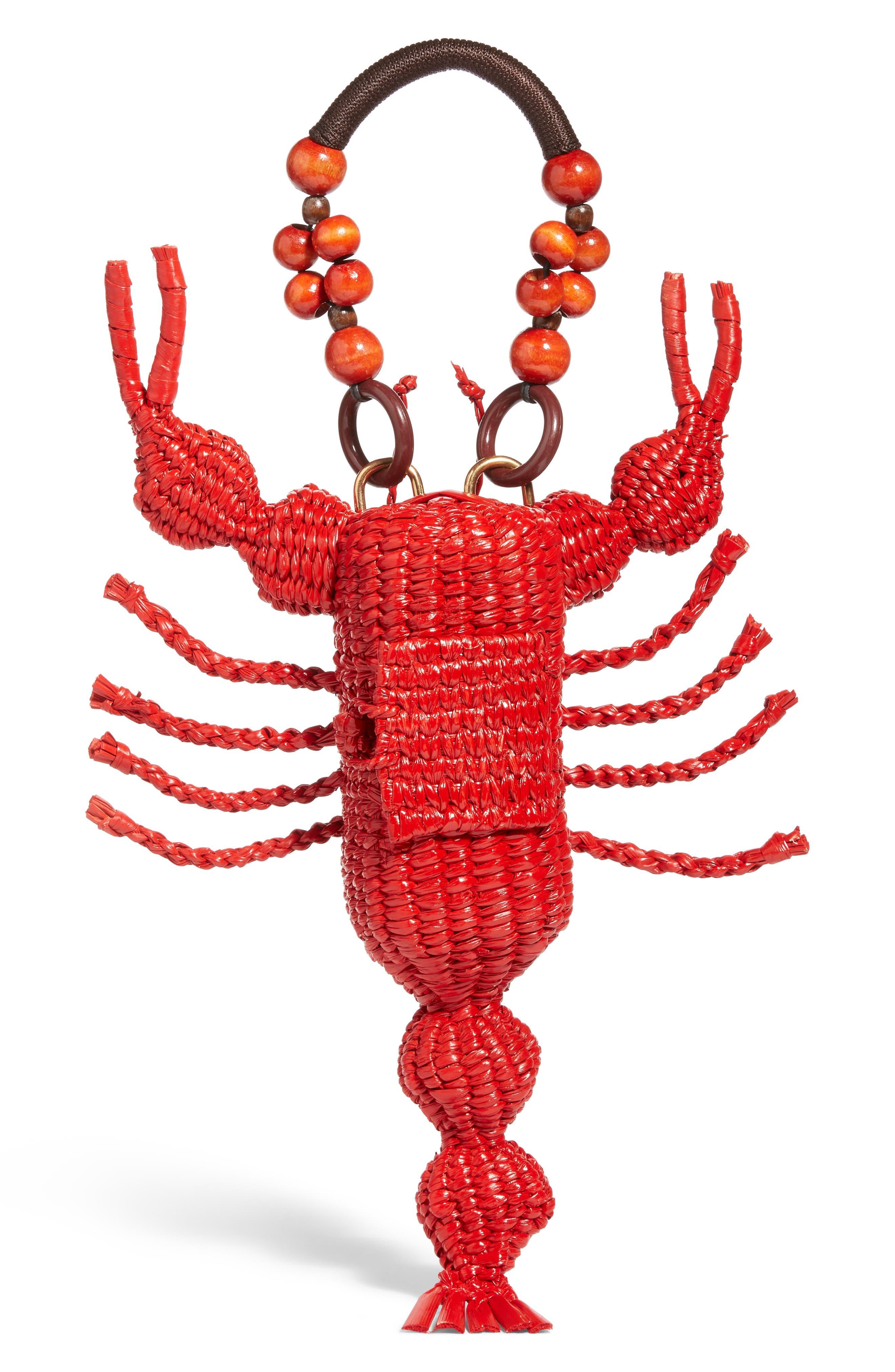 Lobster Bag,                             Main thumbnail 1, color,                             Red