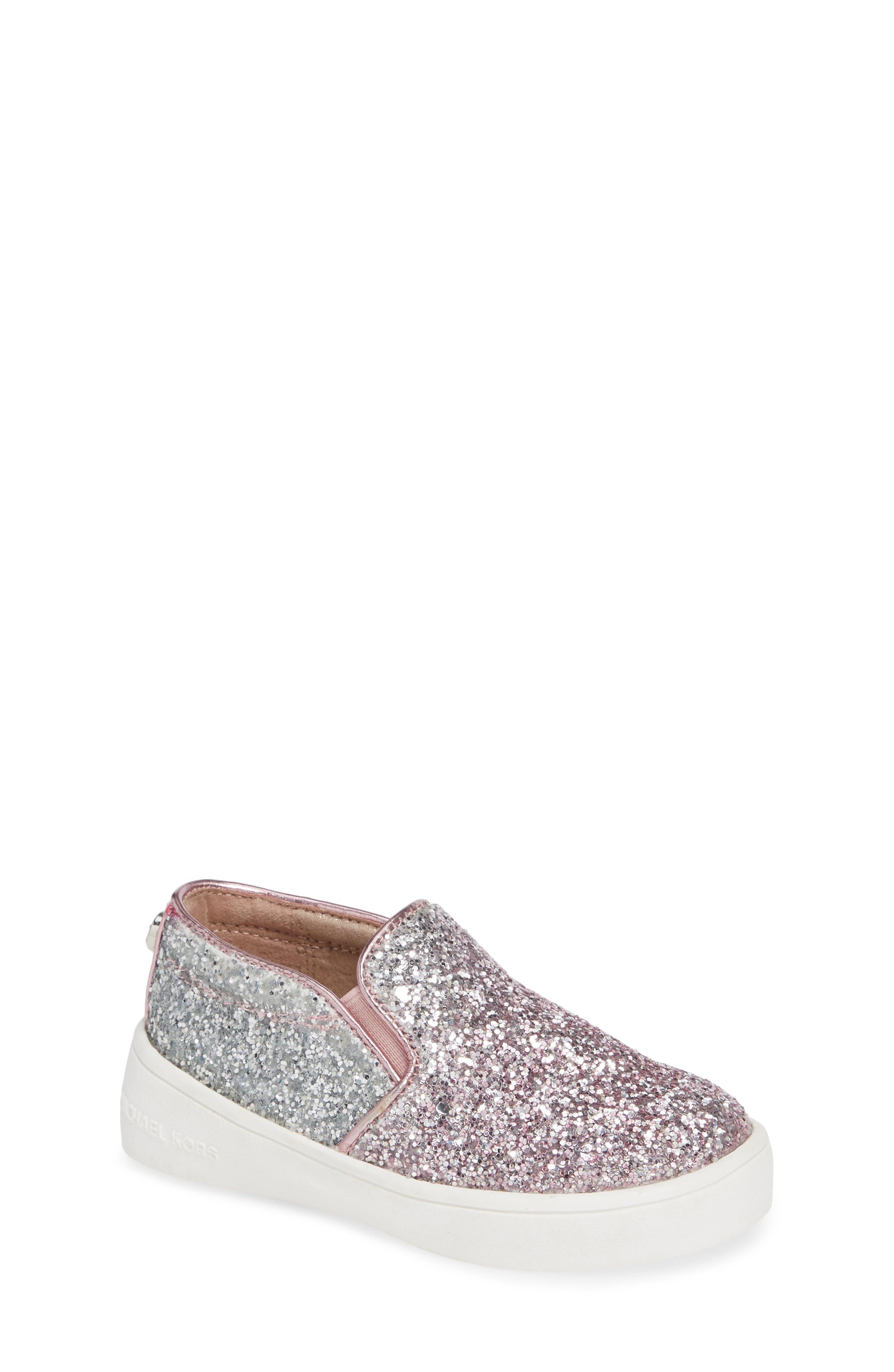 Ivy Ombré Glitter Slip-On Sneaker,                         Main,                         color, Pink Silver