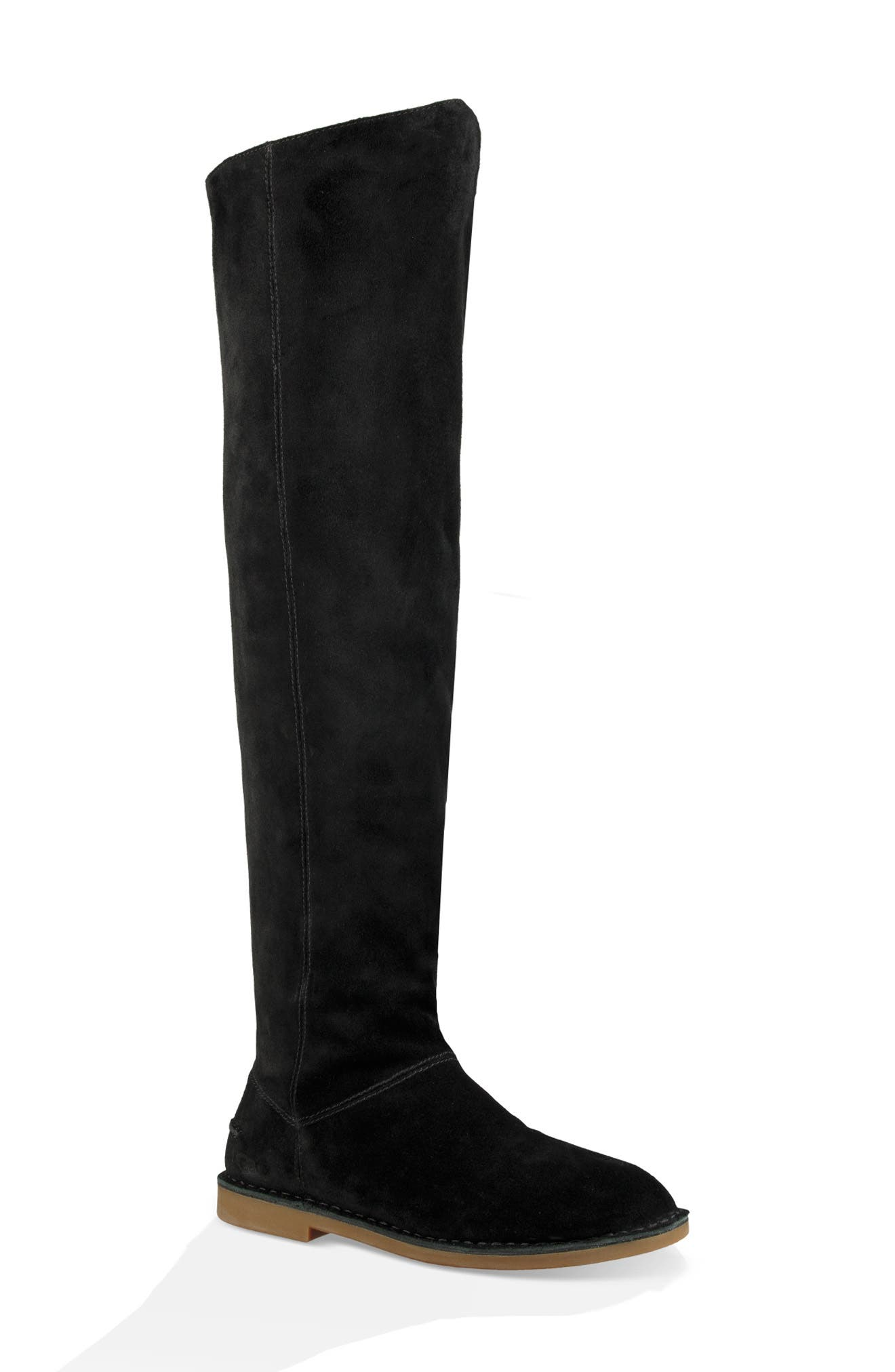 Loma Over the Knee Boot,                             Main thumbnail 1, color,                             Black Suede