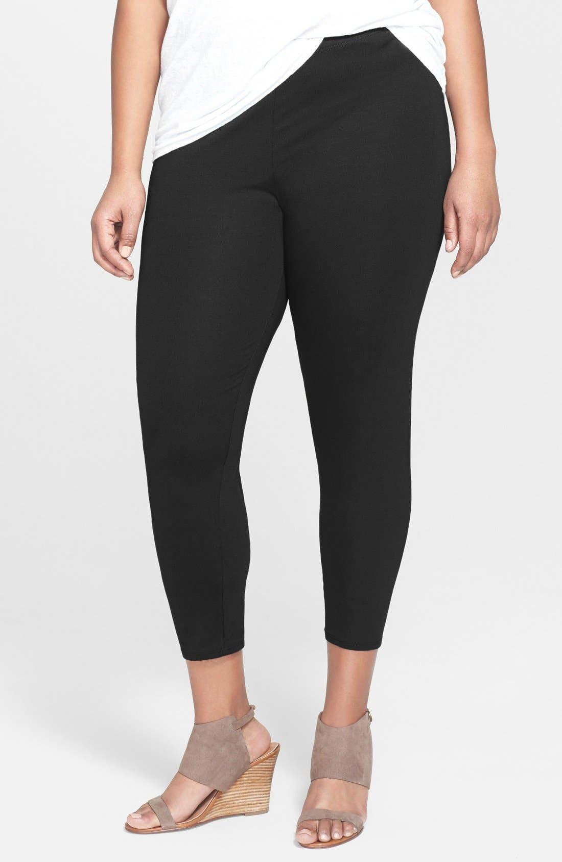 Eileen Fisher Crop Leggings (Plus Size)