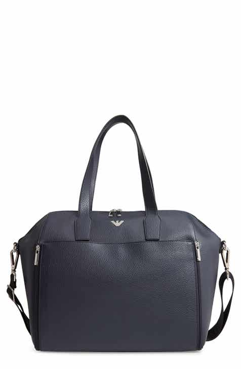 Armani Junior Faux Leather Diaper Bag