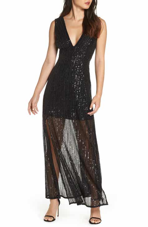 BB Dakota Sequin Mesh Gown by BB DAKOTA