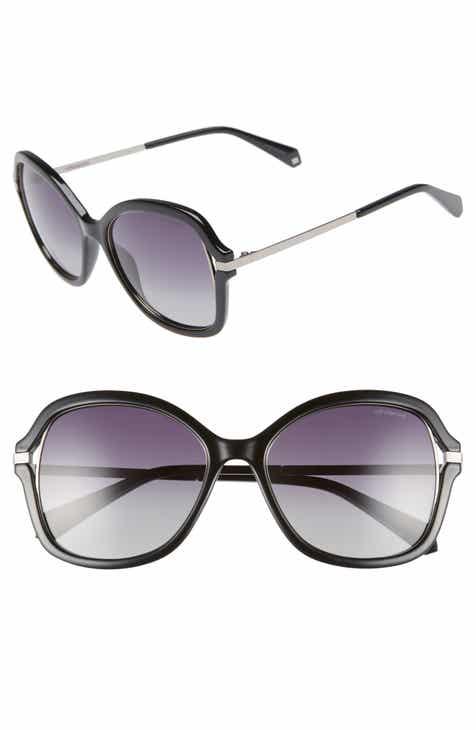 fa0b43ec456 Polaroid 55mm Cutout Round Polarized Sunglasses