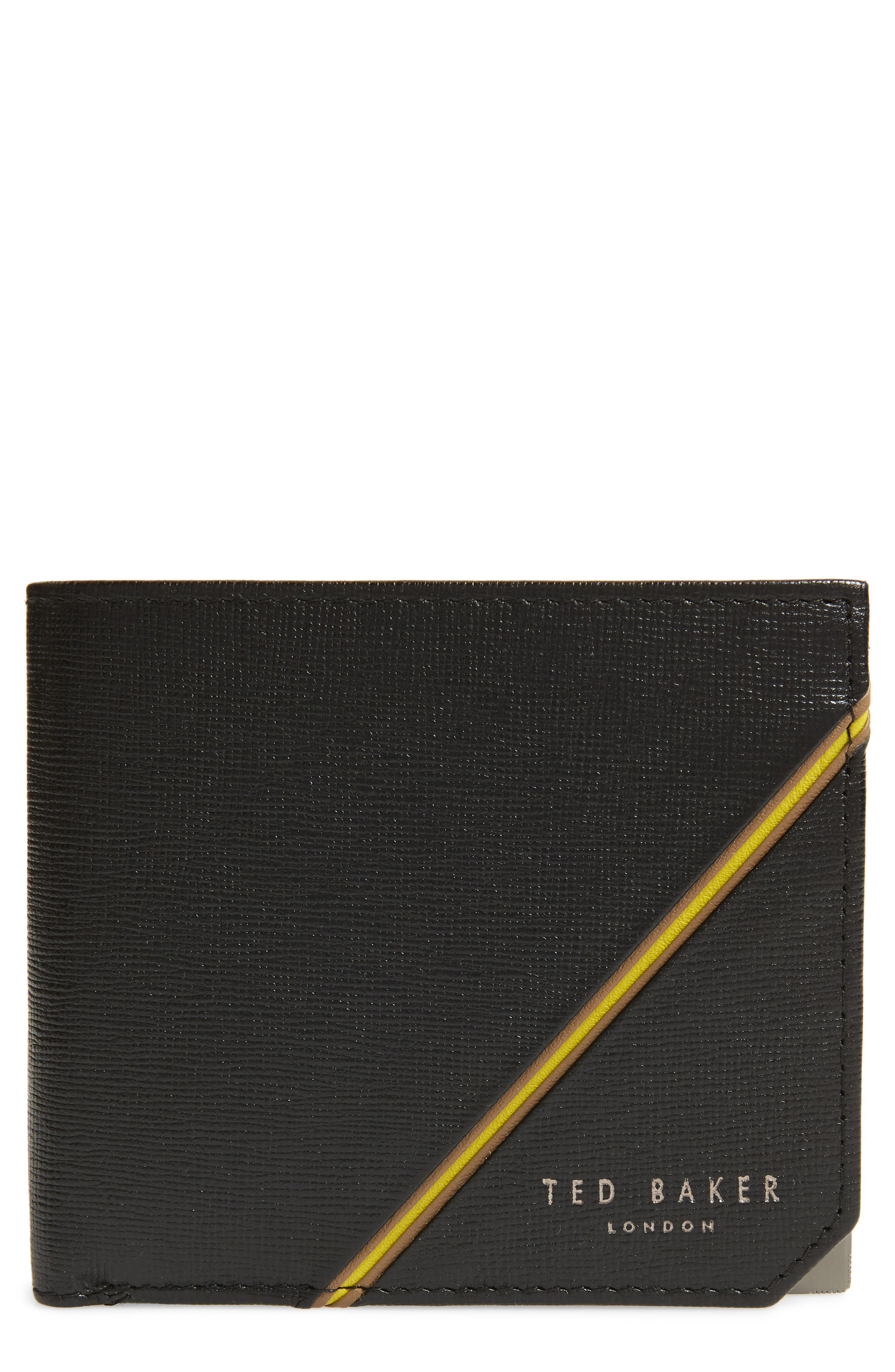 Dipps Leather Wallet,                         Main,                         color, Black