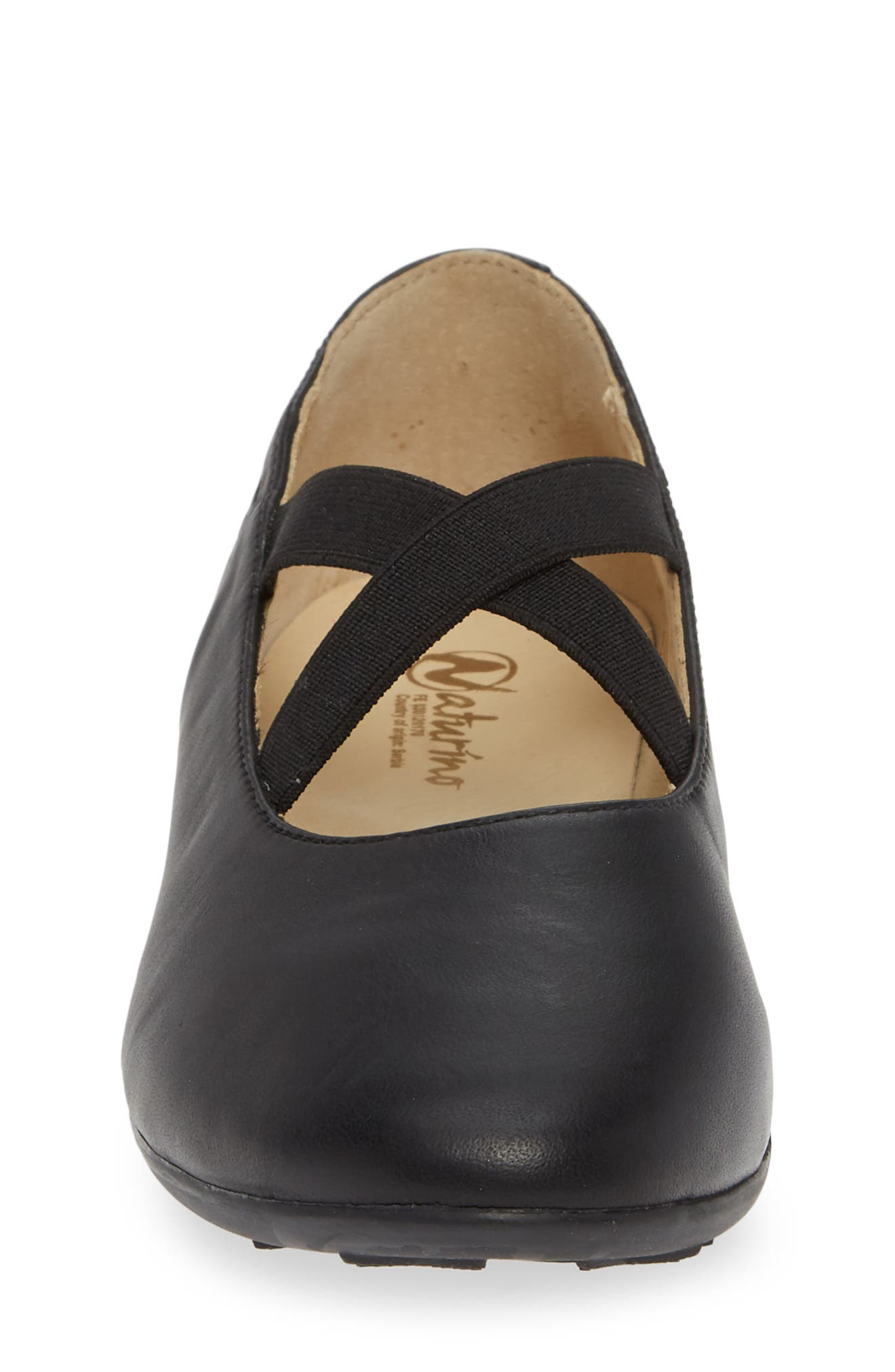 Matera Ballet Flat,                             Alternate thumbnail 3, color,                             Black Leather