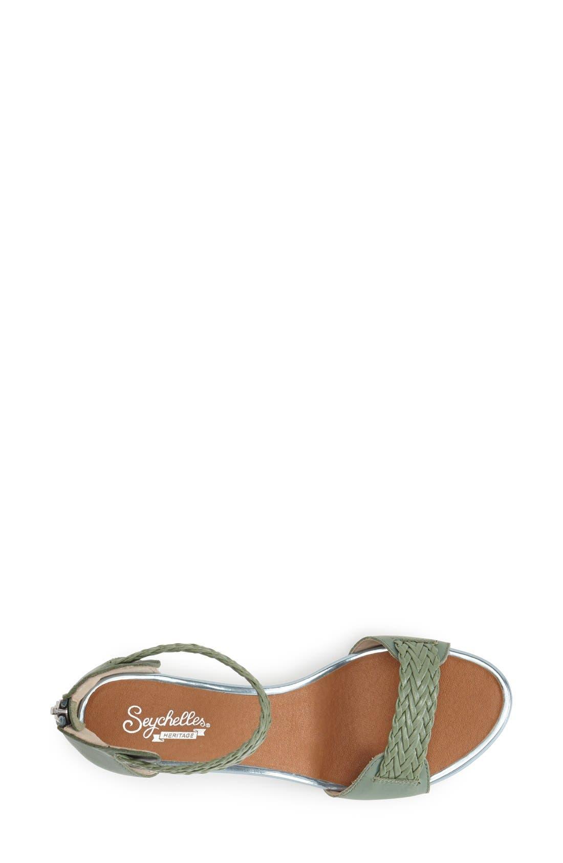 Alternate Image 3  - Seychelles 'Spelling Bee' Leather Ankle Cuff Wedge Sandal (Women)