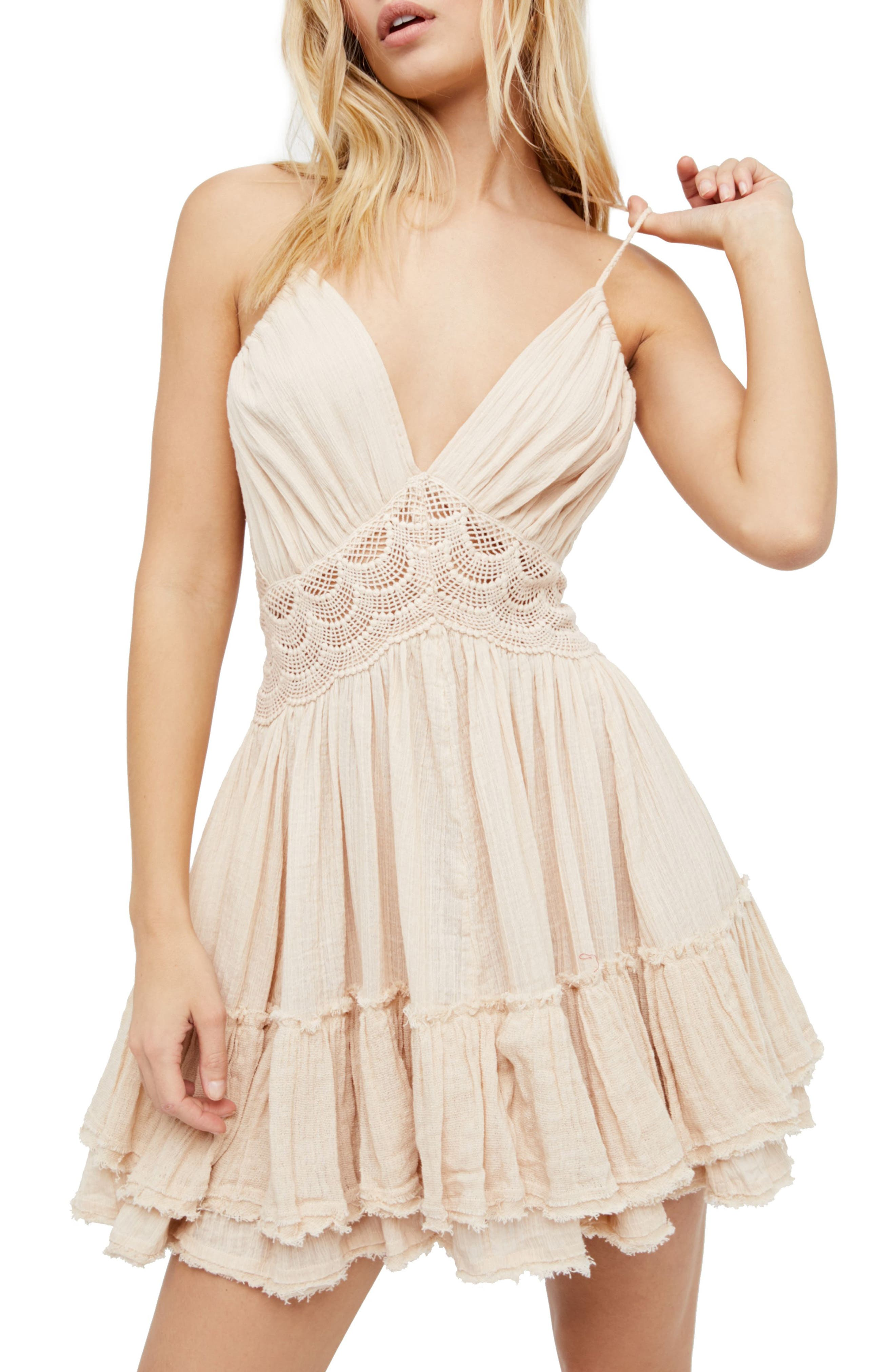 Endless Summer by Free People 200 Degree Minidress,                         Main,                         color, Light Grey
