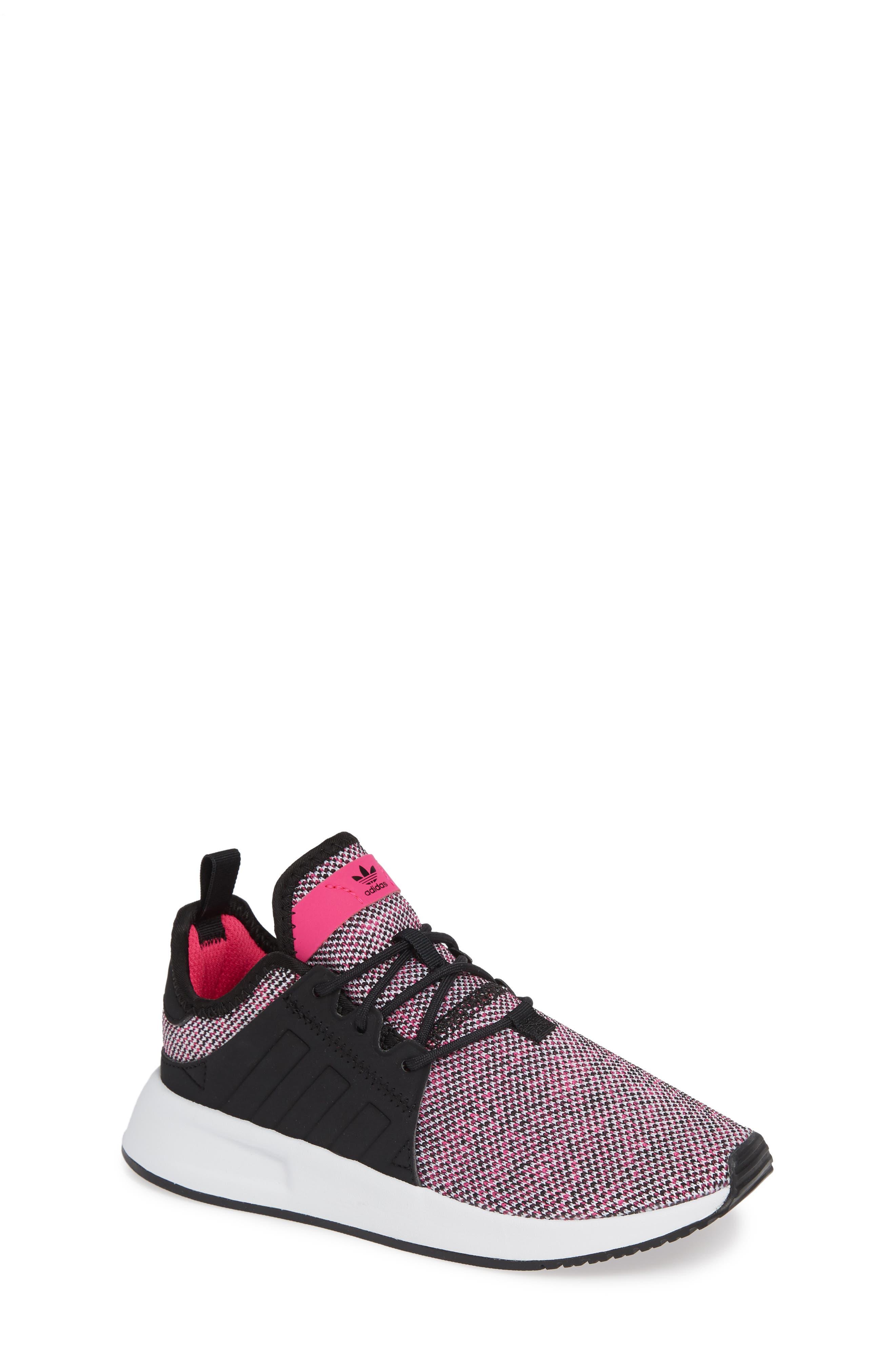 X_PLR Sneaker,                         Main,                         color, Shock Pink/ Black/ White