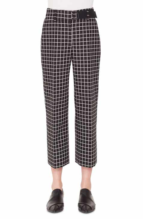 Akris punto Ford Grid Jacquard Crop Pants by AKRIS PUNTO