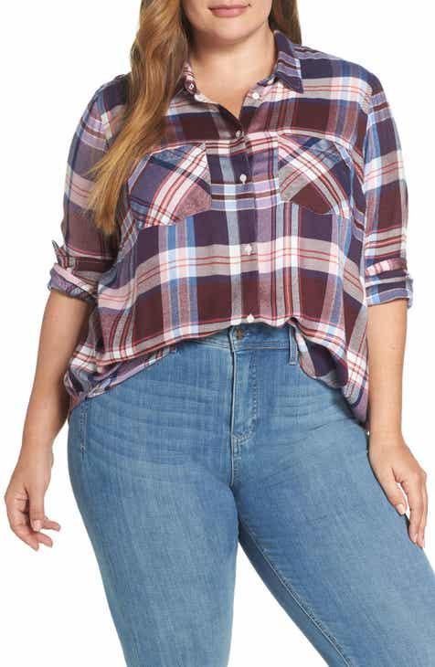 6c3d6731ab9 Lucky Brand Plaid Shirt (Plus Size)