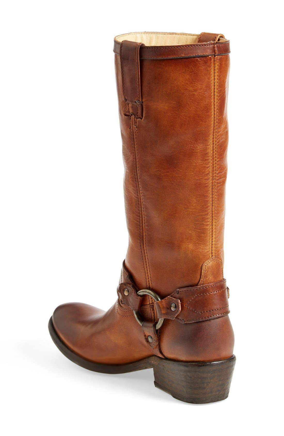 'Carson Harness' Western Mid Calf Riding Boot,                             Alternate thumbnail 2, color,                             Cognac Leather