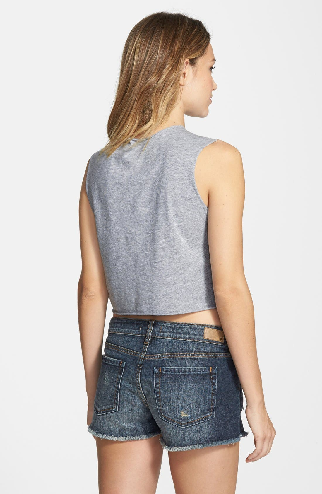 Alternate Image 2  - RVCA 'Vacation' Graphic Crop Muscle Tank