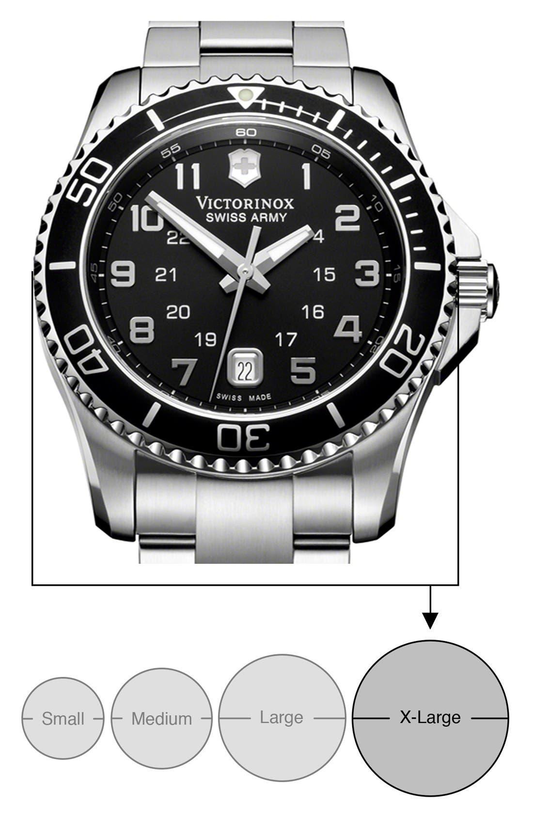 Alternate Image 5  - Victorinox Swiss Army® 'Maverick GS' Stainless Steel Watch, 43mm