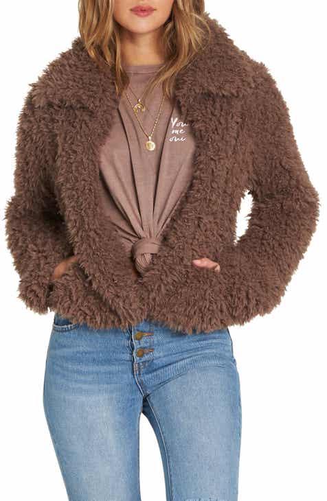 6457c964f3a Billabong Fur Keeps Faux Fur Crop Jacket