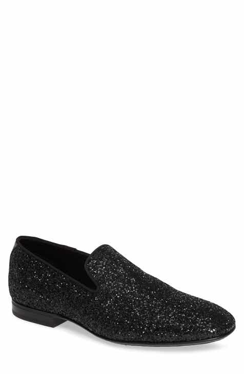85e574b6e00b Jimmy Choo Thame Glitter Venetian Loafer (Men)