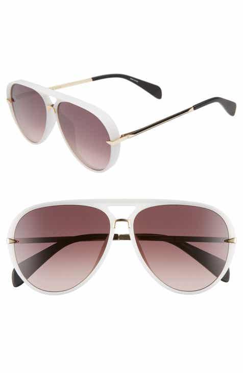 27028c561ec rag   bone 60mm Mirrored Aviator Sunglasses