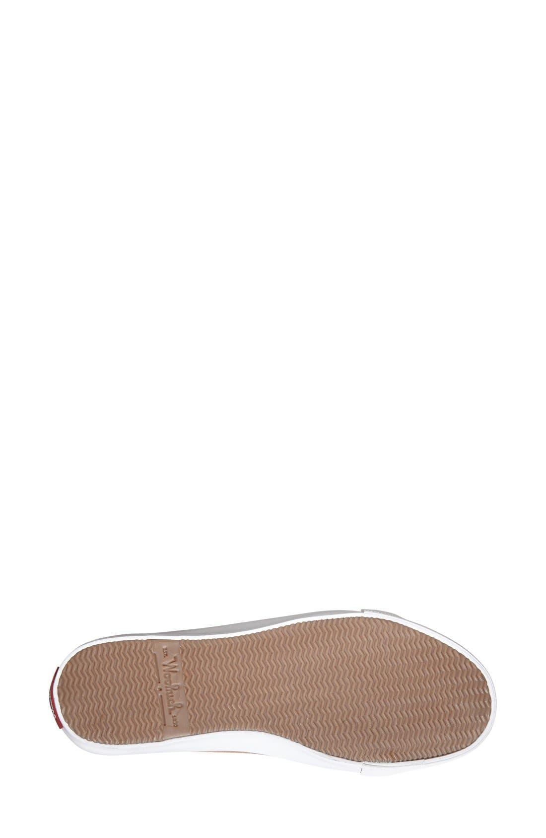 'Strand' Sneaker,                             Alternate thumbnail 4, color,                             Brush Brown Canvas