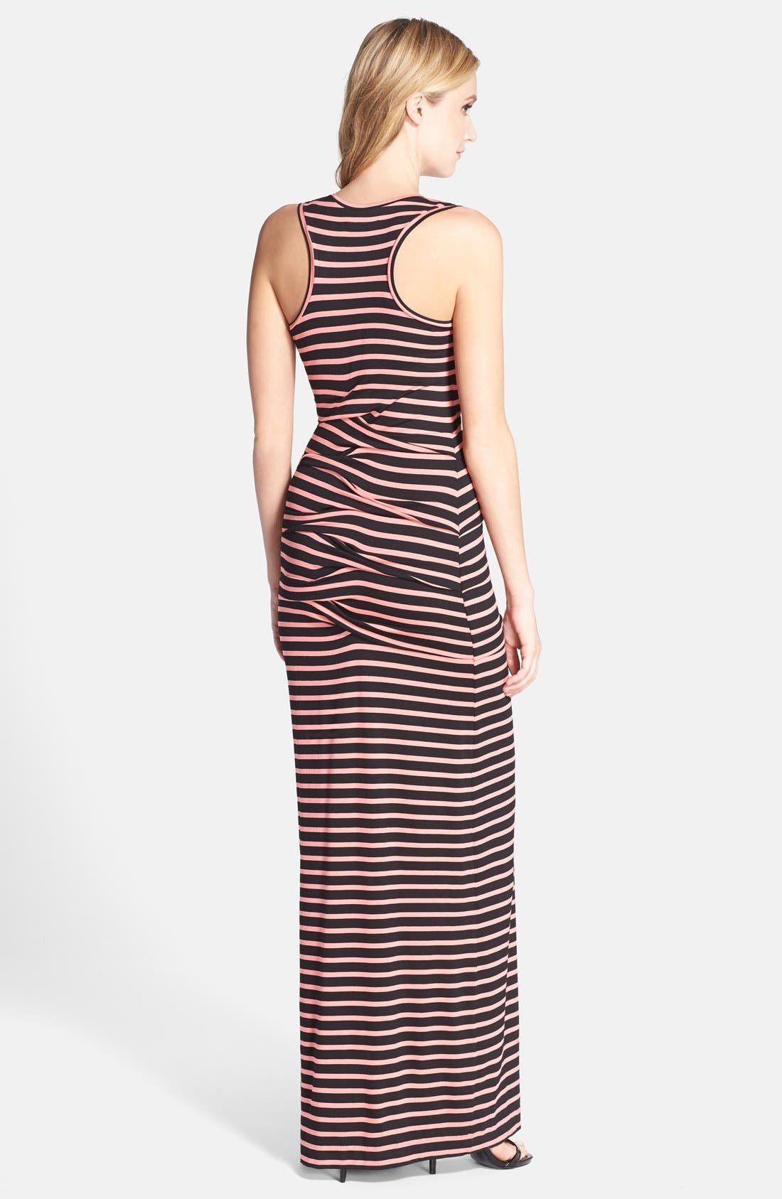 Alternate Image 2  - Nicole Miller 'Vanessa' Stripe Jersey Maxi Dress