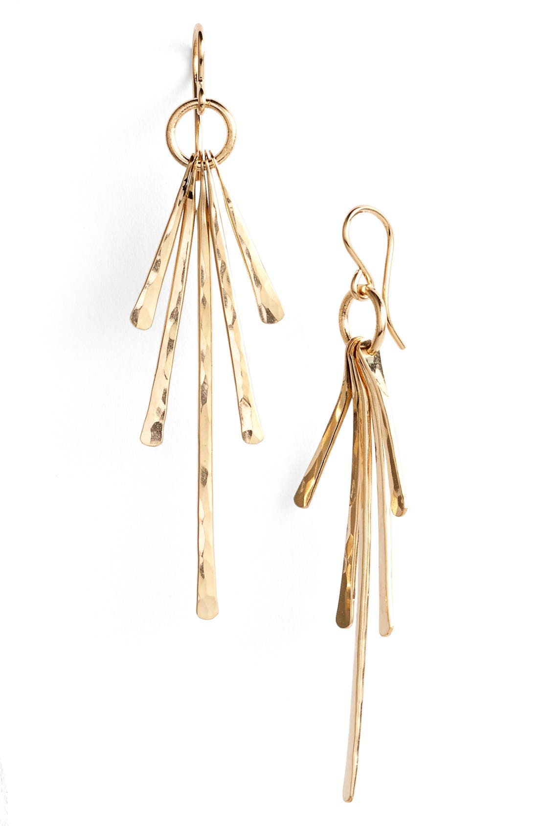 Ija Sunburst Drop Earrings,                         Main,                         color, 14K Gold Fill