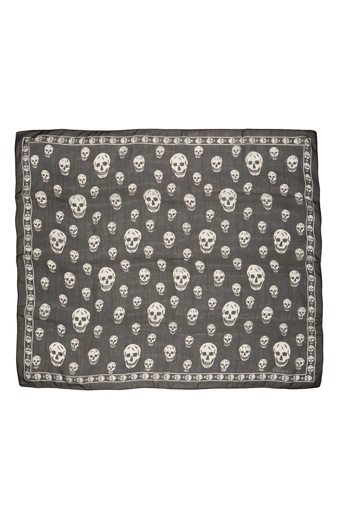 Alternate Image 2  - Alexander McQueen Skull Print Silk Chiffon Scarf
