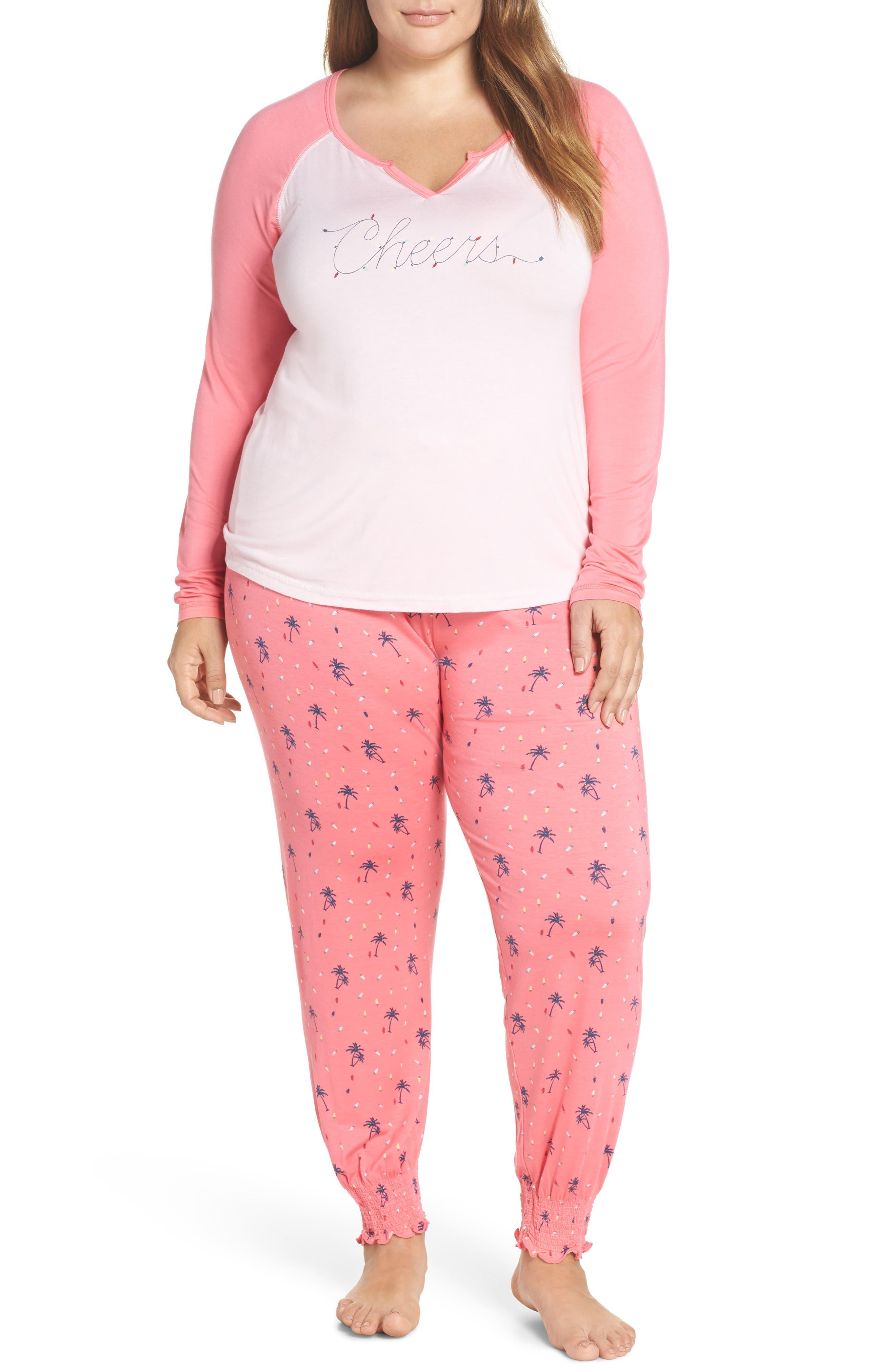 Womens Honeydew Intimates Winter Breaker Pajamas, Size Medium - Grey