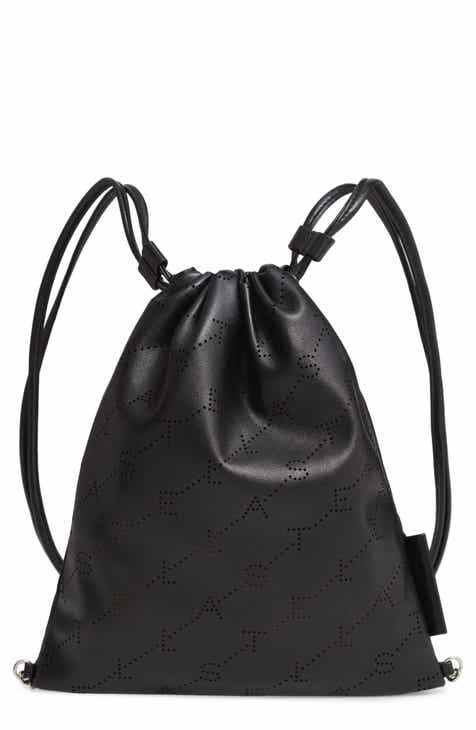 Stella McCartney Perforated Logo Mini Faux Leather Drawstring Backpack 8dd5511b93d5d