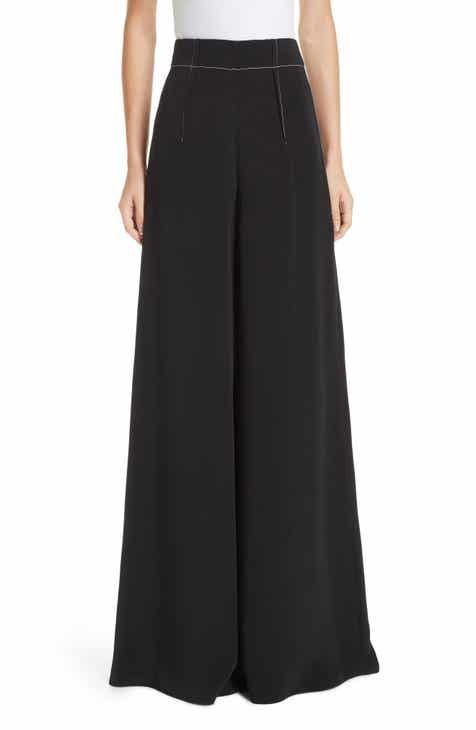 CUSHNIE Silk High Waist Wide Leg Pants by CUSHNIE