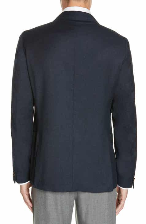 Eleventy Trim Fit Solid Wool Sport Coat