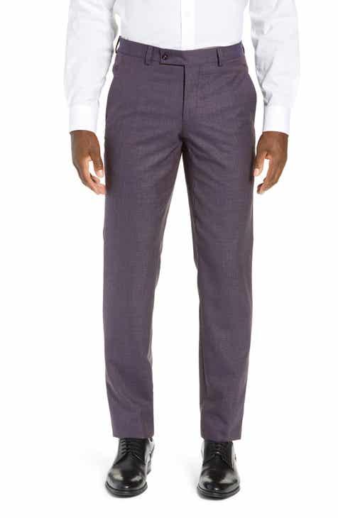 feb344c7de49 Ted Baker London Jerome Flat Front Solid Wool Trousers