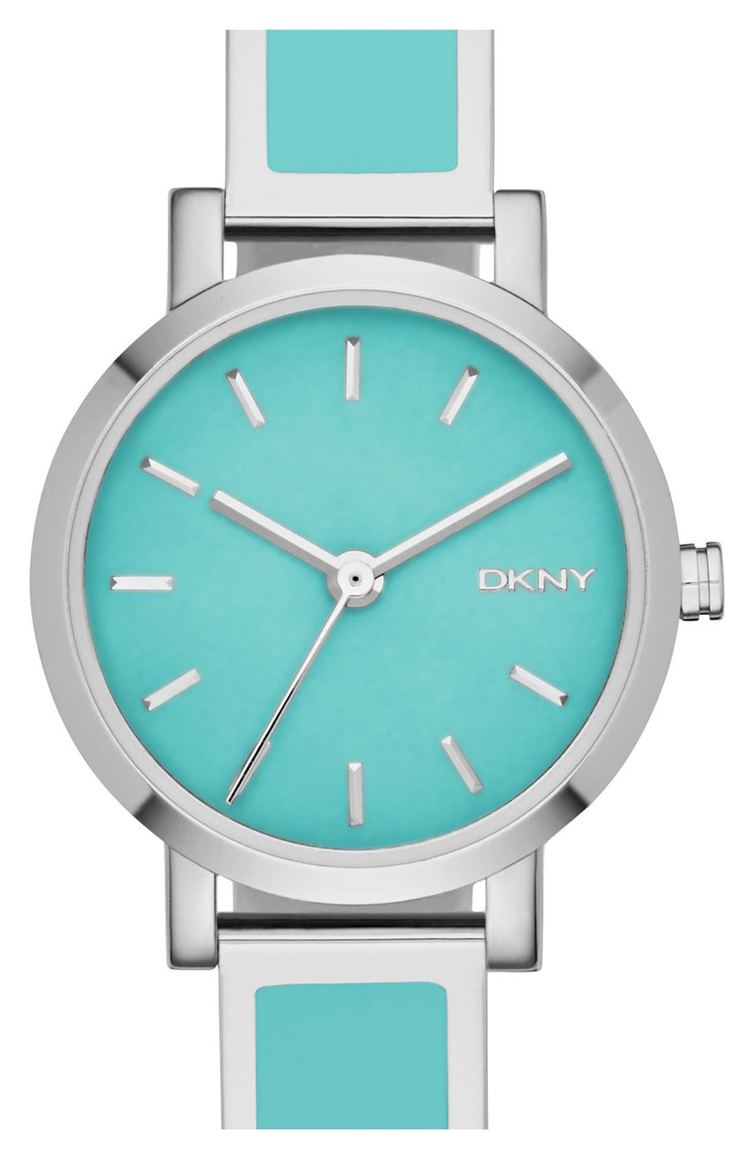 Alternate Image 1 Selected - DKNY 'Soho' Logo Round Bangle Watch, 24mm