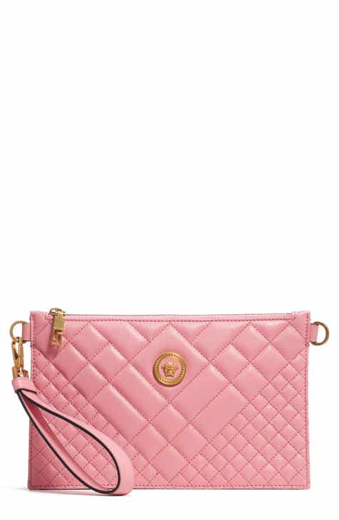 65be38fd6f Versace Tribute Icon Quilted Leather Pouch