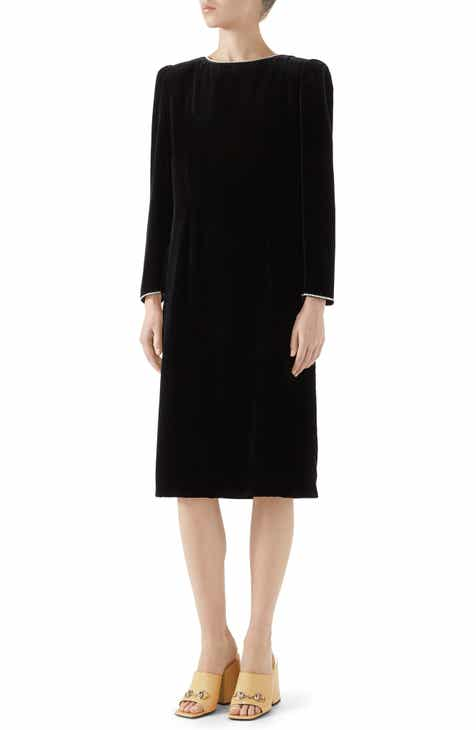 Gucci Crystal Trim Velvet Dress by GUCCI
