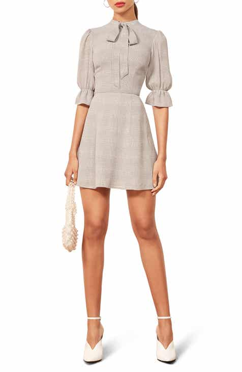 4802bbe40e4a Reformation Cassie Tie Neck Minidress