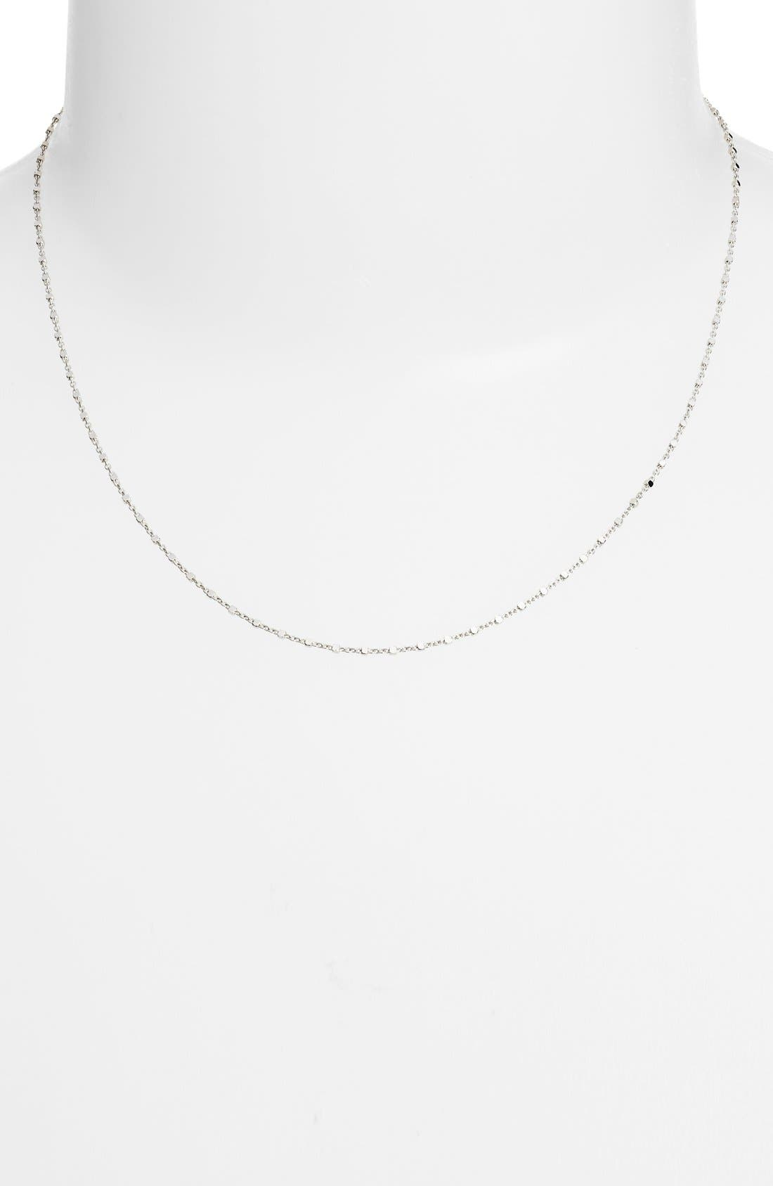 Beaded Chain Collar Necklace,                             Alternate thumbnail 2, color,                             White Gold