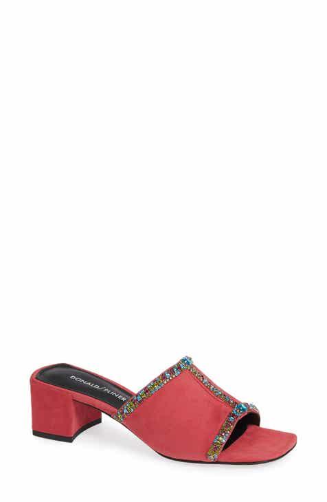 30e269a32dc236 Donald Pliner Bete Crystal Embellished Slide Sandal (Women)