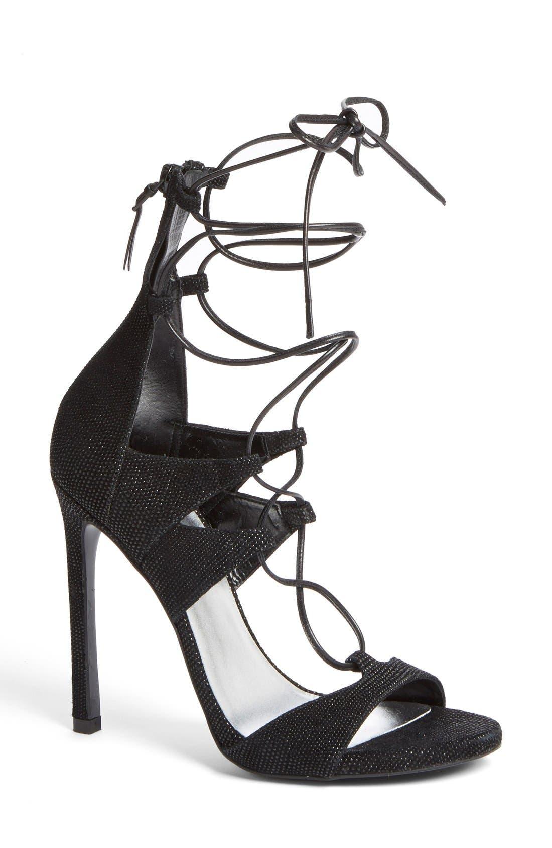 Alternate Image 1 Selected - Stuart Weitzman Leg Wrap High Dress Sandal (Women)