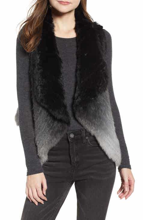 La Fiorentina Ombré Genuine Rabbit Fur Vest by LA FIORENTINA