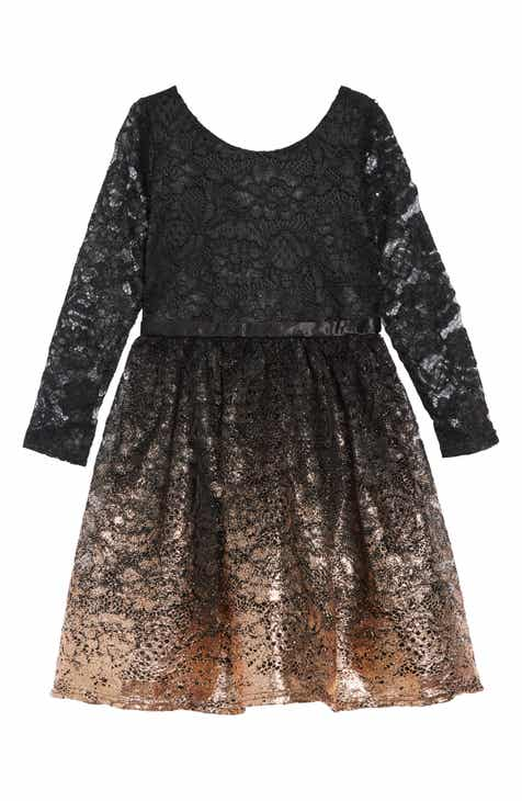 blush by us angels lace gold ombr dress big girls