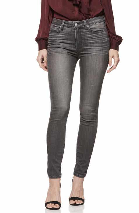 PAIGE Hoxton Transcend High Waist Skinny Jeans (Grey Peaks) f2a725ed65