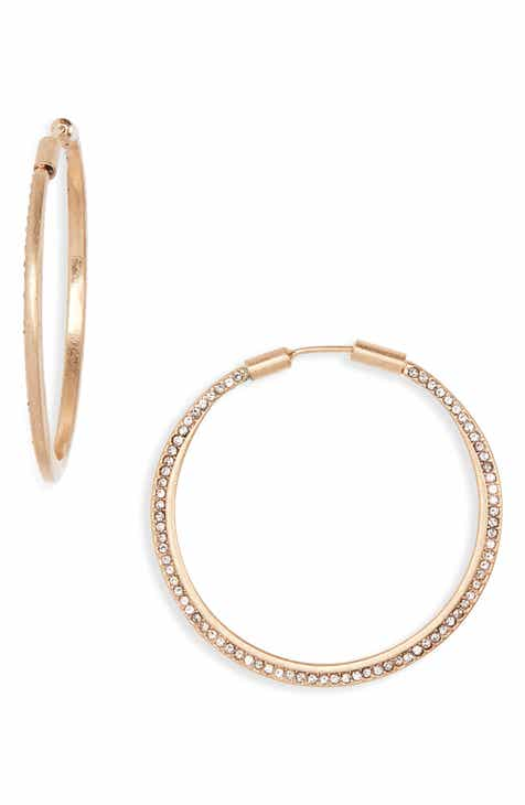 Treasure Bond Seamless Pavé Hoop Earrings