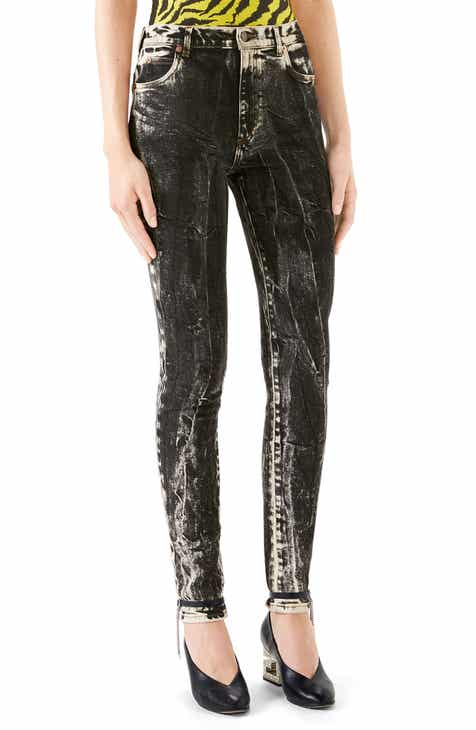 7a3e47d220f Gucci Marble Wash Stretch Jeans