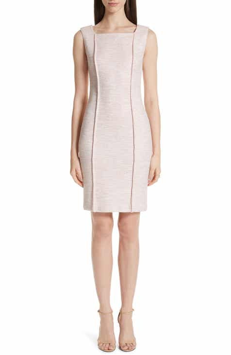 9a72490908d St. John Collection Belinda Knit Square Neck Dress
